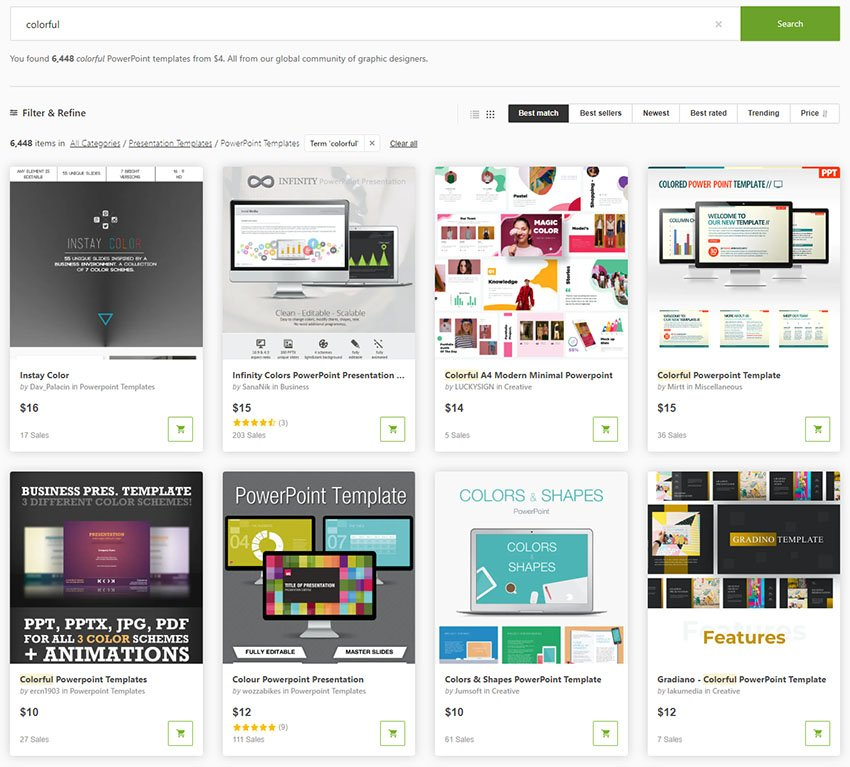 GraphicRiver Colorful Presentation Templates