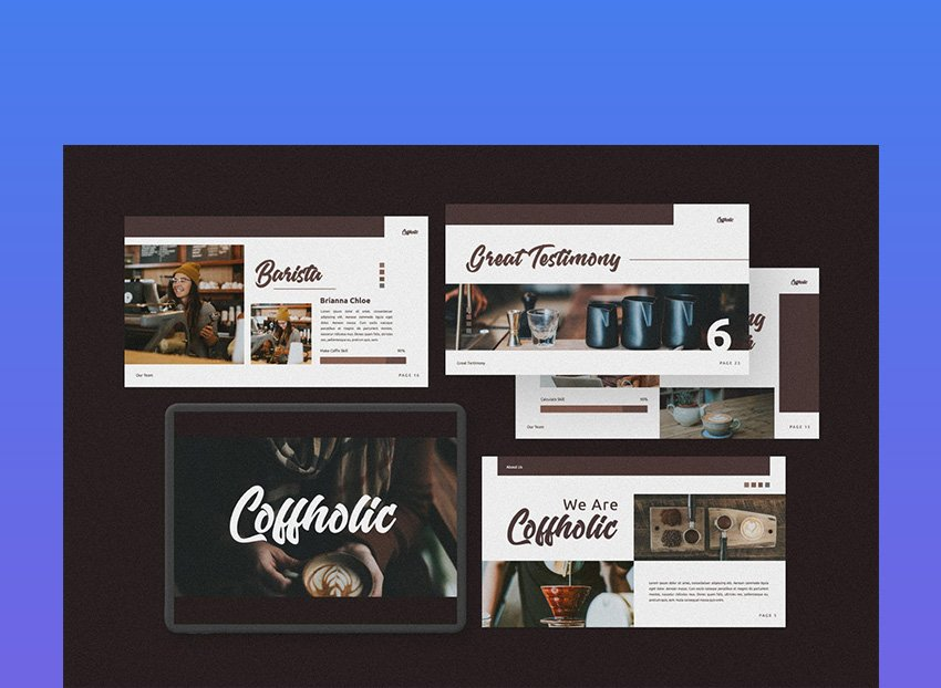 Coffholic Coffee Google Slides Theme
