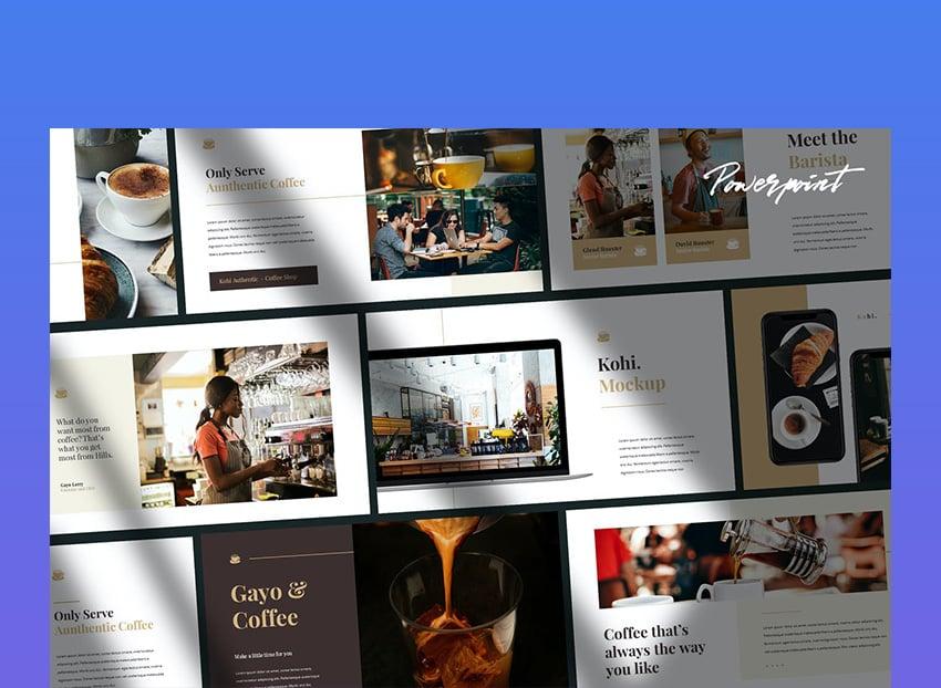 Kohi Cafe Business Keynote Template