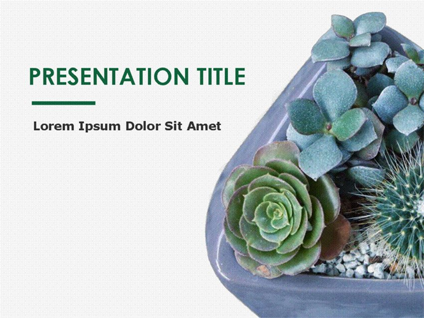 Botany Nature PowerPoint Templates Free Download