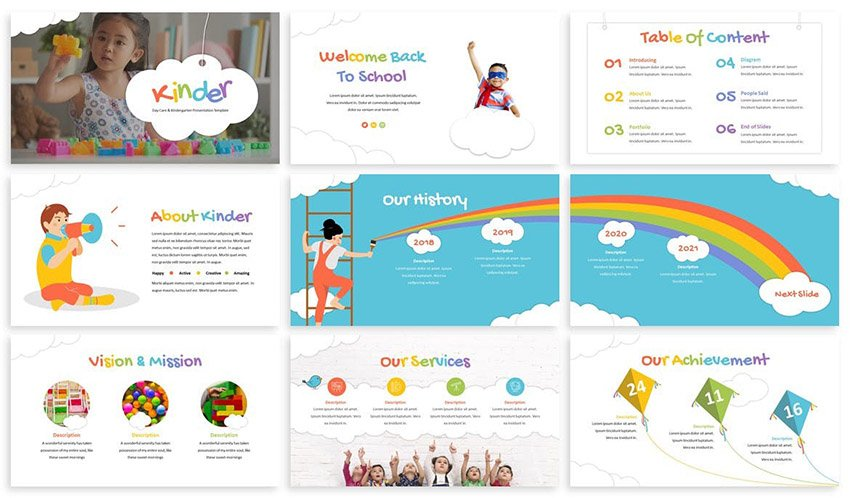 Kinder Cute Google Slides Templates