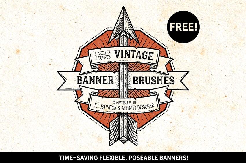 Vintage Affinity Designer Free Brushes