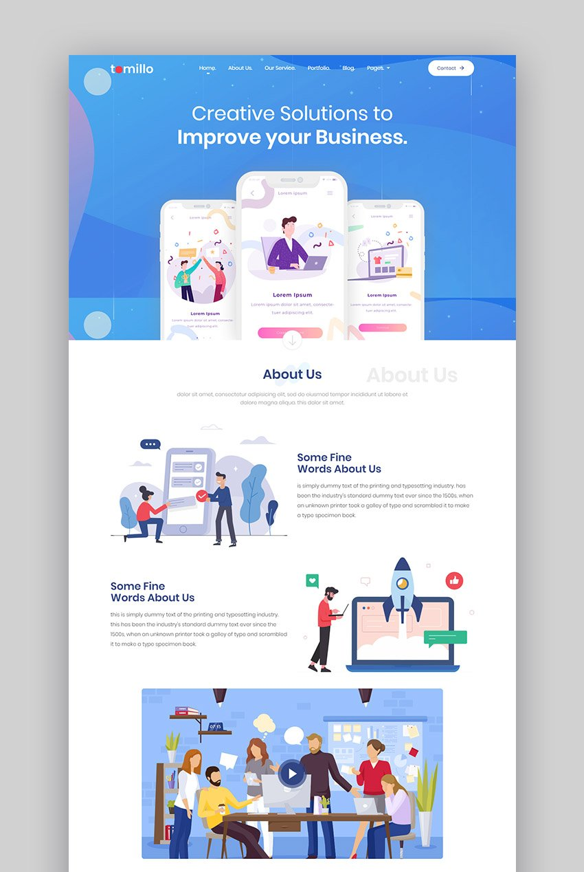 Tomillo product landing page
