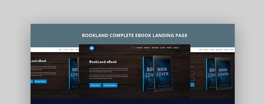 BookLand Complete eBook Landing Page