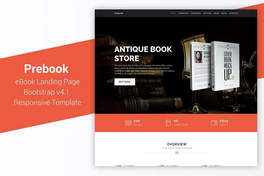 Prebook Book Landing Page