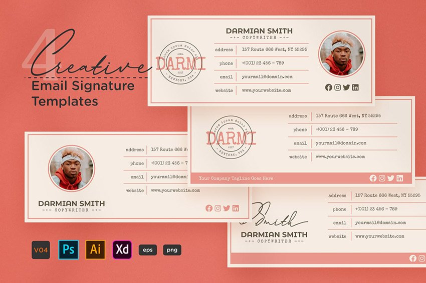 Creative Email Footer Template