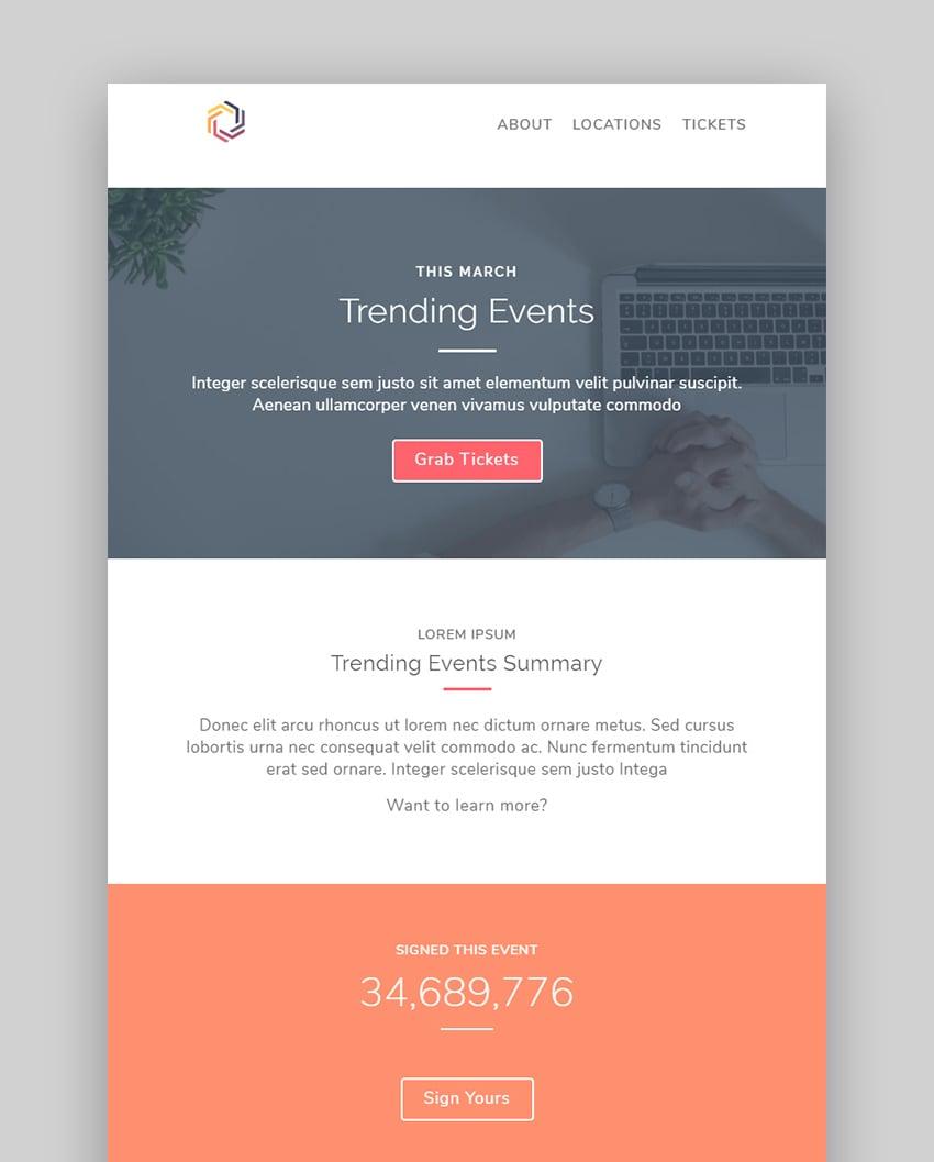 Events Mailchimp Newsletter Templates