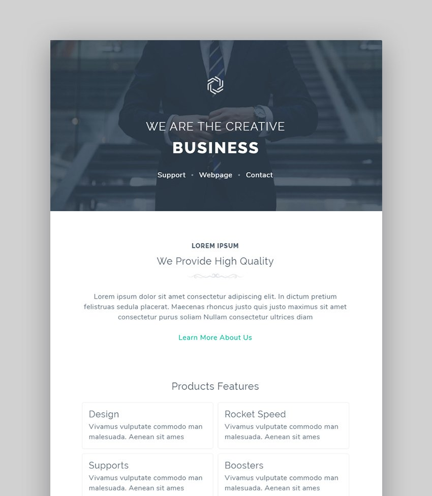 Mzone Corporate Email Newsletter Templates