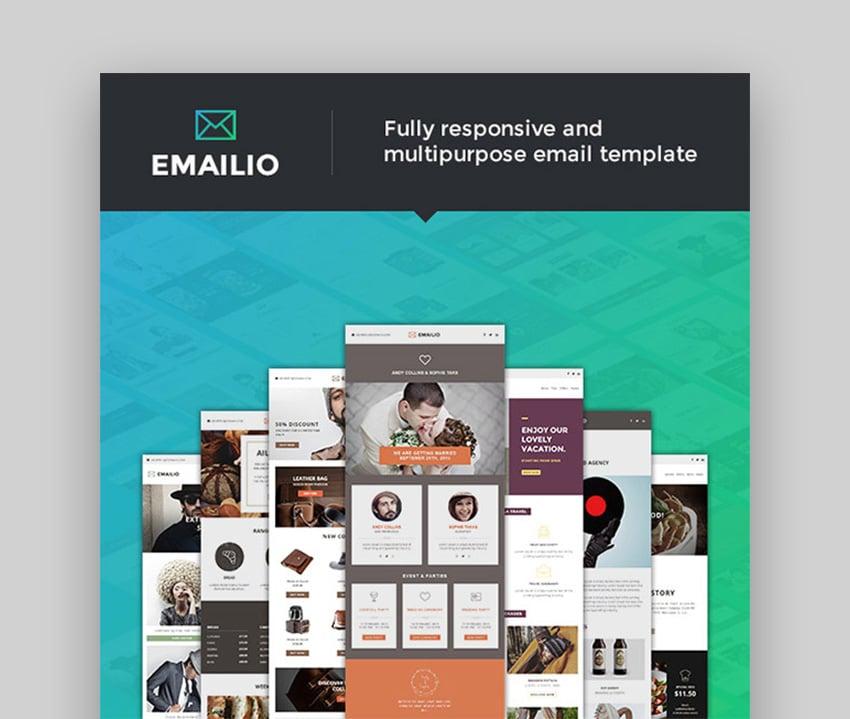 Emailio - Responsive Multipurpose Email Template