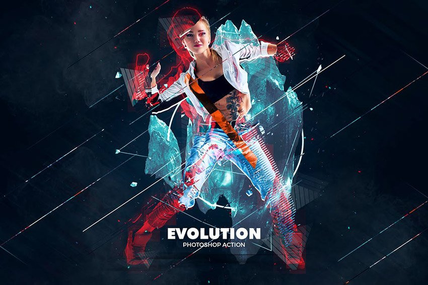 Evolution Photoshop Action