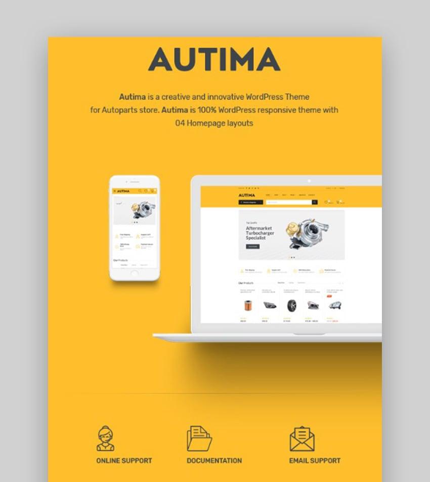 Autima The Theme Car WordPress