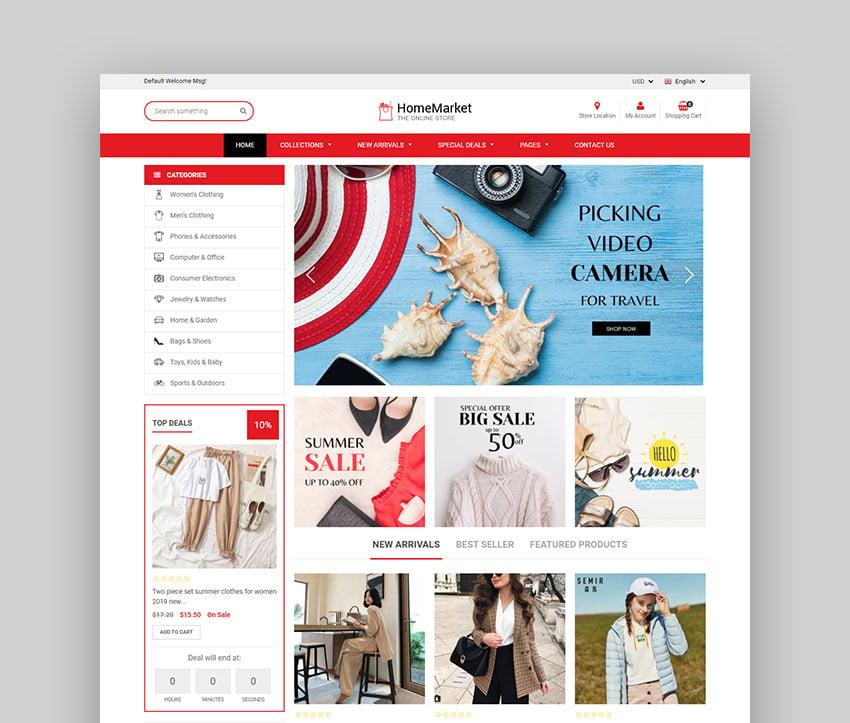 Home Market - Flexible tema de Shopify (compatible con las secciones)