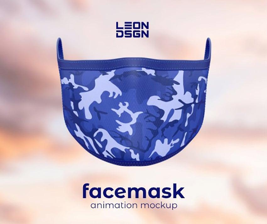Animated Photoshop Face Mask Mockup