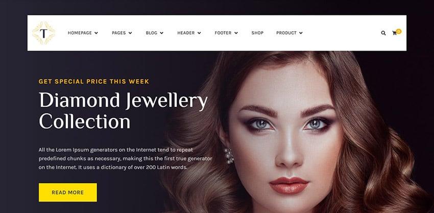 Tisara Best Jewelry Website Design