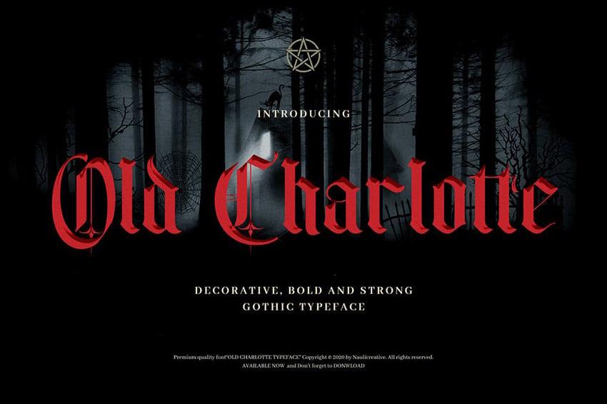 Old Charlotte Medieval Font