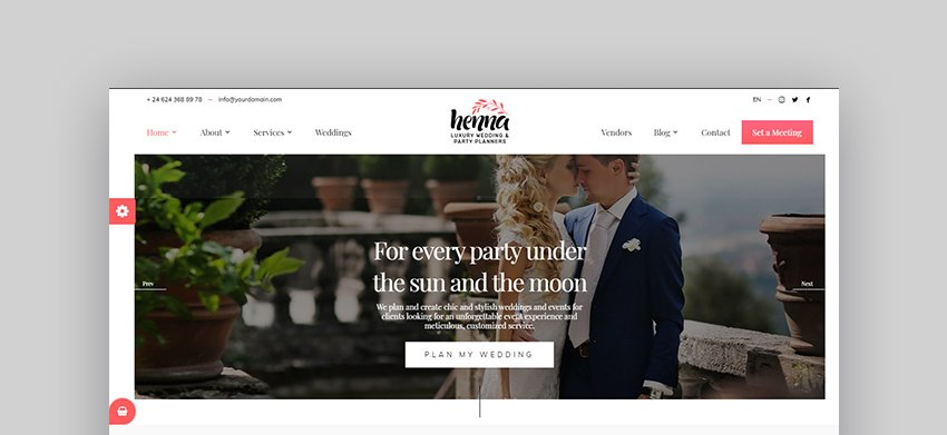 Henna Indian Wedding WordPress Theme