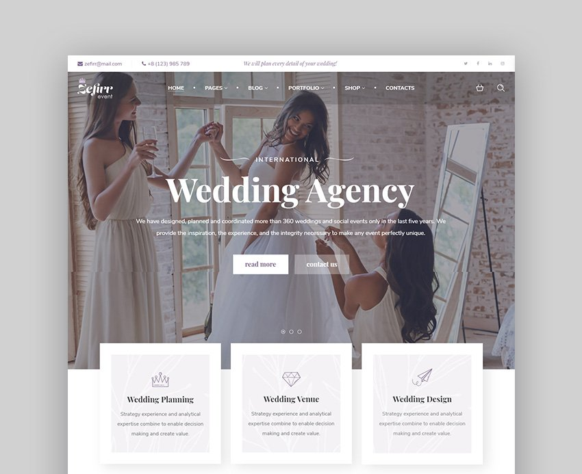 Zefrir Indian Wedding WordPress Theme