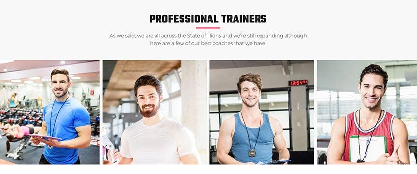 VUP Fitness Trainer WordPress Theme