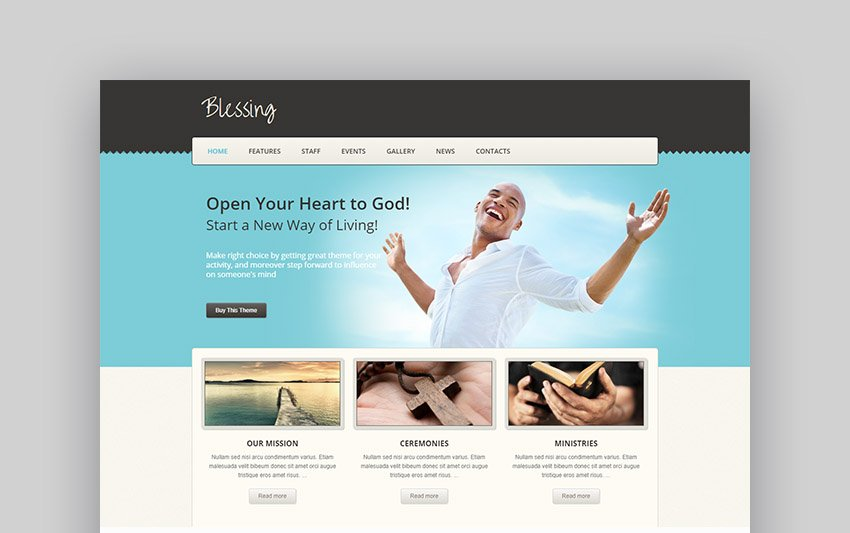 Blessing WordPress Church Template