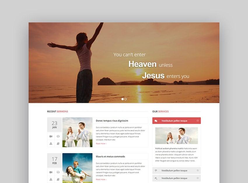 Spiritual WordPress Church Template