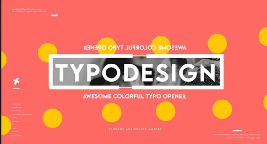 New Typo Intro Templates With Vibrant Colors