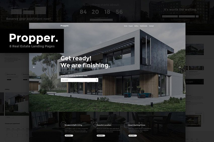 Propper real estate landing page