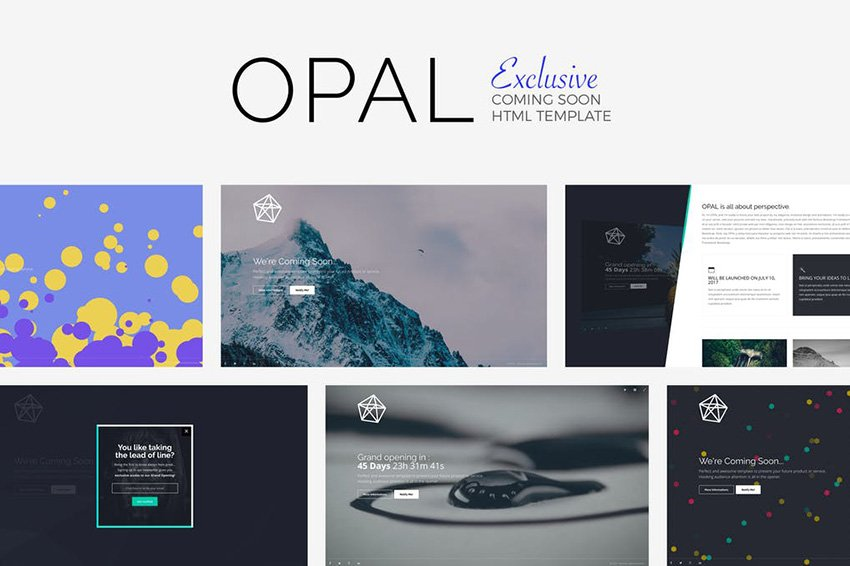 Opal Landing Page HTML5