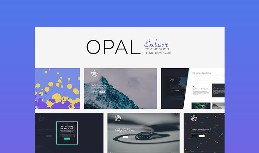Opal HTML5 Landing Page Template