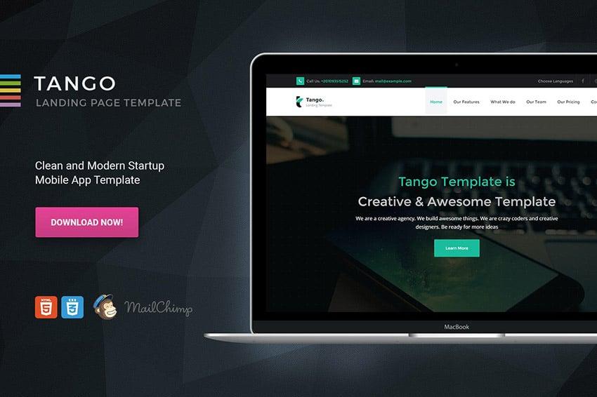 Tango Landing Page HTML5