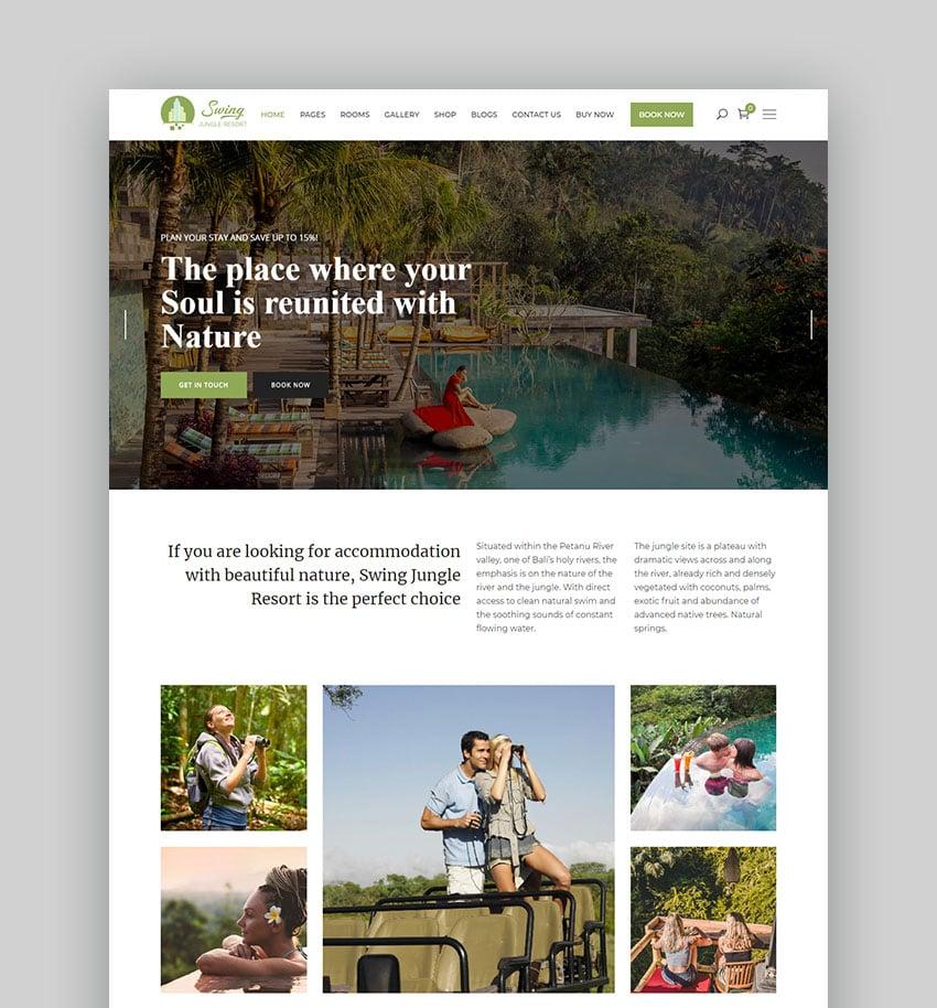Swing WordPress Hotel Listing Theme