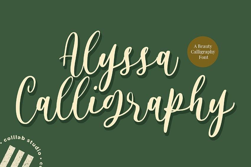 Alyssa Calligraphy Type Font