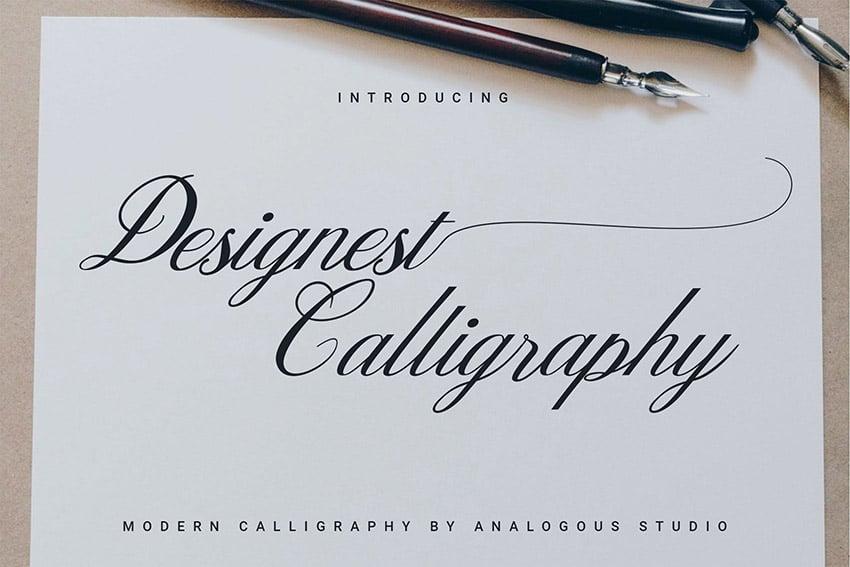 Designest Calligraphy Font Download