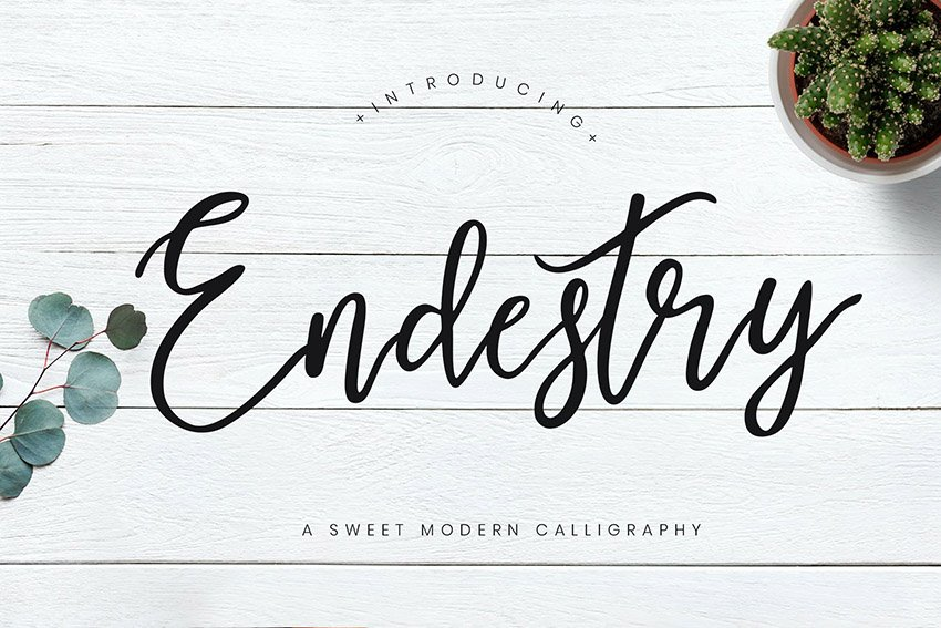 Endestry Modern Calligraphy Font Download