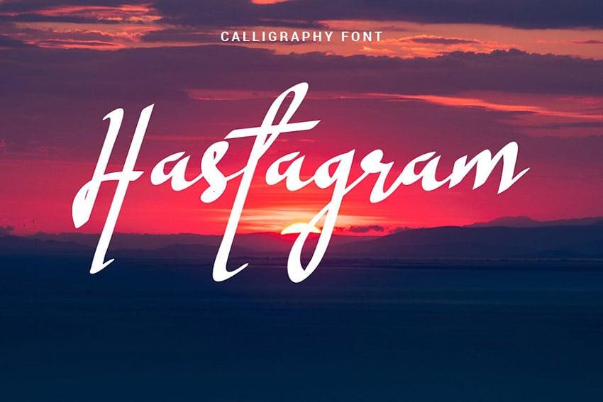 Hastagram Calligraphy Font Download