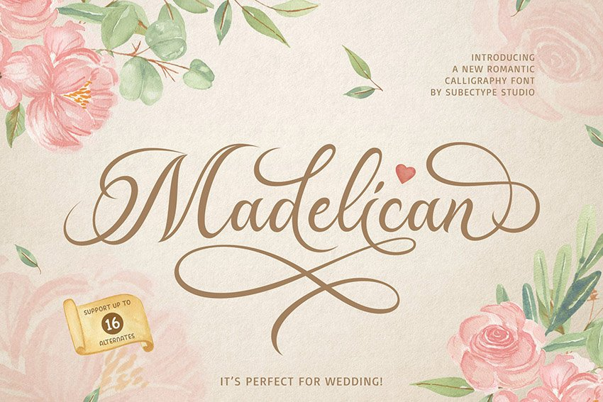 Madelican Calligraphy Script Font Download