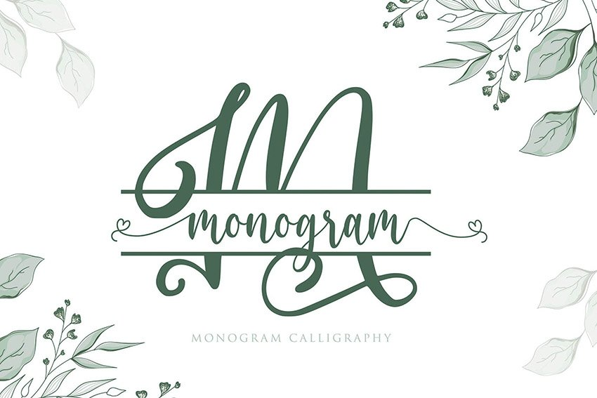 Monogram Calligraphy Font