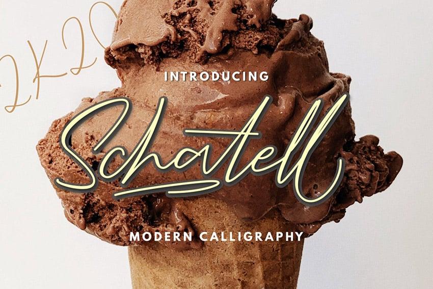 Schatell Modern Calligraphy Script Font Download