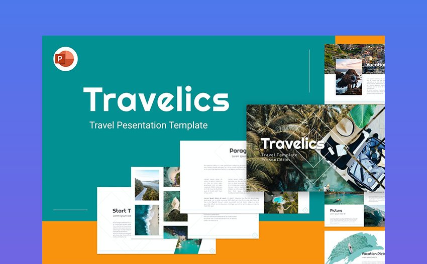 Travelic Travel PPT Template