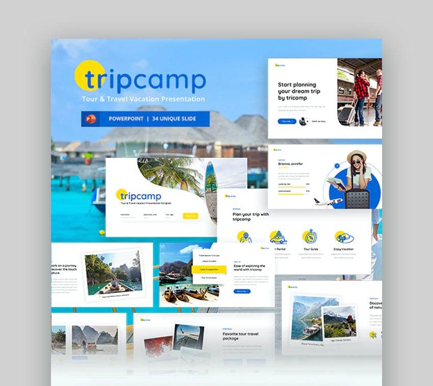 Tripcamp Travel Agency PowerPoint Presentation