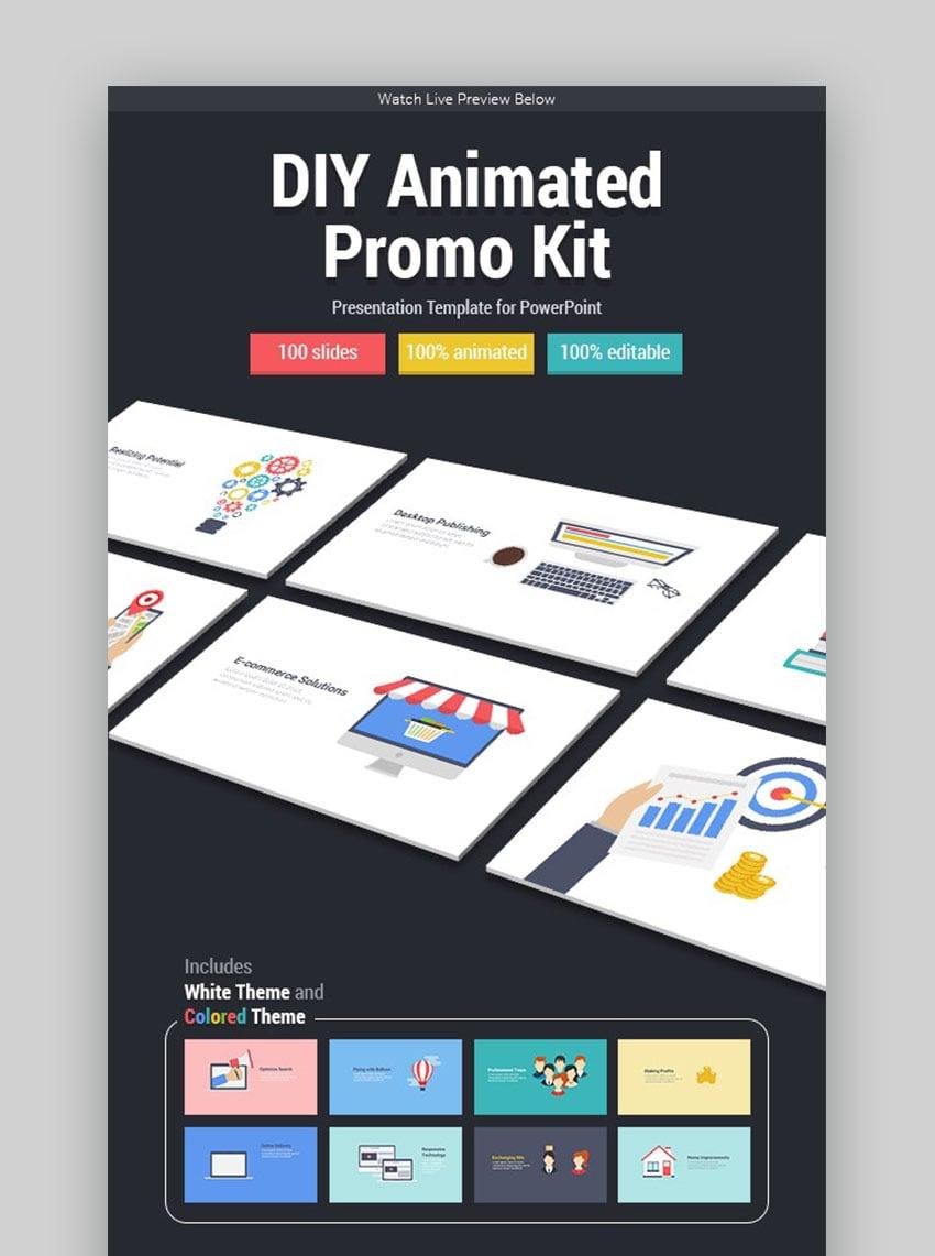 DIY animiertes Promo-Kit Interaktive PowerPoint-Ideen