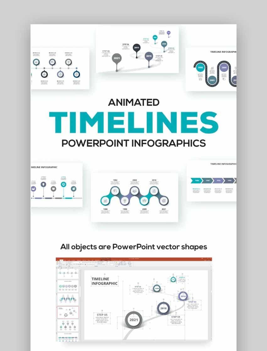 Zeitleisten PowerPoint-Animationsbeispiele