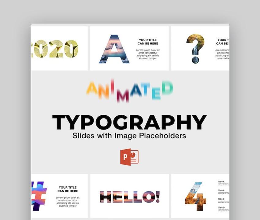 Typografie PPT-Animation