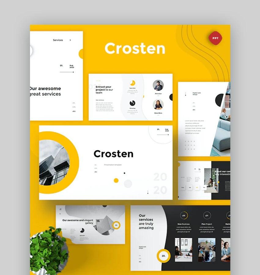 Crosten Powerful PowerPoint Template