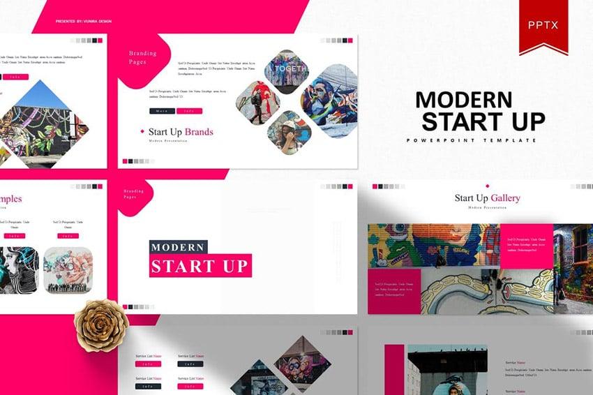 Modern Start Up Modern Slide Design