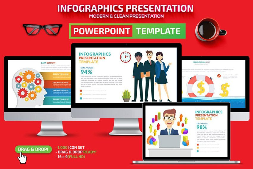 Business Infographic Flowchart Template