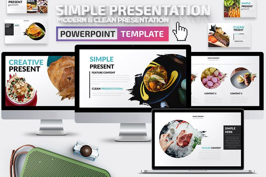 Simple Presentation Template With Image Masks
