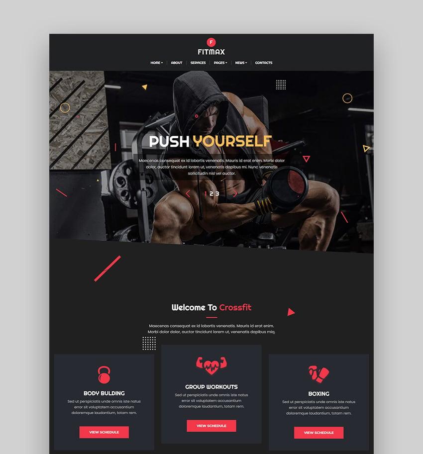 Fitmax Protein WordPress Theme
