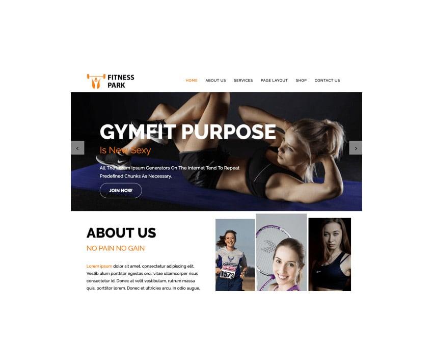 Fitness Park Fitness WordPress Theme Free