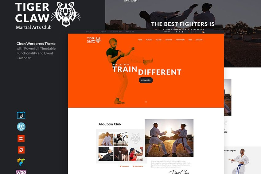 Tiger Claw Gym And Personal Trainer WordPress Theme