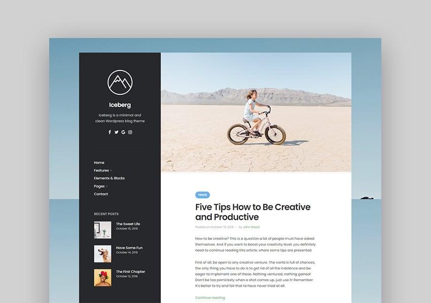 Iceberg Low Price WordPress Themes